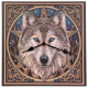 Wall Clock Celtic Wolf hoofd Lisa Parker 29 x 29c