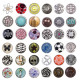 20mm CHUNK buttons Pearl Rhinestone chunks buttons
