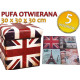 PUFA FOOTSTOOLS FOLDING CONTAINER FOR TOYS