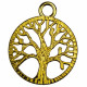 Tree of life pendant, 30mm, gold