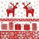 Servet Kerstmis Deers