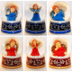 6 snowglobe angel blue / red 140mm sorted