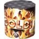 Gold Blinker 10 Schuß Feuerwerk Batterie