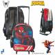 Los niños Trolley Mochila Spiderman efecto de bril