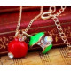 Collana con pendente N029 torsoli di mela zircone