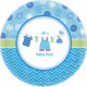 Baby Boy Paper Plate with 8 pcs 17.7 cm