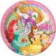DisneyPrincess , Księżniczki Talerz papierowy 8 sz