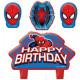 Spiderman, Spiderman cake kaarsen, kaars 4 stuks