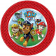 Paw Patrol , Paw Patrol Paper Plate with 8 pieces