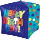 Happy Birthday Würfel-Folienballons
