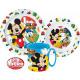 DisneyMickey zastawa stołowa, zestaw z mikro plast
