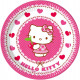 Hello Kitty Paper Plate 8 pcs 19.5 cm