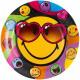 Talerz papierowy Emoji z 8 szt. 23 cm