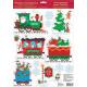 Pociąg świąteczny, naklejka na Boże Narodzenie 15