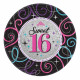 Happy Birthday 16 Paper Plate 8 pcs 17.8 cm