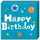 Happy Birthday Jongen servet 20 stuks
