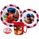 Ladybug and Black Cat dinnerware, micro set