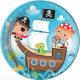 Pirate, Pirate Talerz papierowy 8 szt. 23 cm