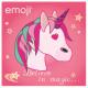Emoji Unicornis pillow, decorative pillow 40 * 40