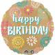 Happy Birthday Fólia lufi 43 cm