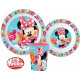 Tableware, micro plastic set for Disney Minnie