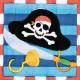 Pirate, Pirate Napkin 16 pcs, 24.7 * 24.7 cm