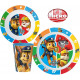 Tableware with micro plastic set Paw Patrol