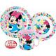 DisneyMinnie zastawa stołowa, zestaw z mikro plast