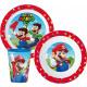 Super Mario tableware, micro plastic set