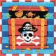 Pirate, Pirate napkin 16 pcs, 33 * 33 cm