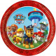 Paw Patrol , Paw Patrol Paper Plate with 8 pcs 23c