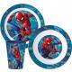 Spiderman tableware, micro plastic set