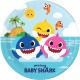 Baby Shark Paper Plate 8 pcs 23 cm FSC