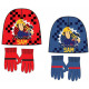 Sam is a firefighter kid hat + gloves set
