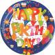 Happy Birthday Paper Plate 10 pcs 23 cm