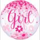 Confetti Baby Girl Sphere Foil balloons 71 cm