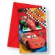 Disney Cars , Verdák Party Invitation 6 pcs