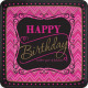 Happy Birthday Paper Plate with 8 pcs 17.8 cm