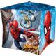 Spiderman , Spiderman Foil Balloon Cube 38 cm