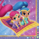 Shimmer and Shine napkin with 20 pieces