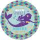 Mermaid, Mermaid Metallic Paper Plate 8 pcs 18 cm