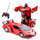Transformable remote control car Red