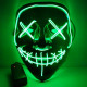 Horror Movie LED Mask - The Purge - Green