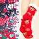 Dicke Damen Socken mit Fell, ABS, 4933