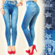 3989 Leggings COMMENT JEANS, Empreinte: STRIP ET N