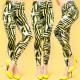 4324 Pants Women Leggings, Zebra Color Pattern