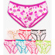 4351 Bamboo Women's Panties, Heart Pattern, M-