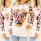 K159 Candy Sweatshirt, le silence imprimé en dit l