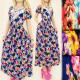 4103 WOMAN DRESS, MAXI, kis virág, LACE