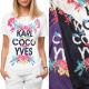 Blusa de mujer, T-Shirt Karl y Coco, M-2XL, 6231